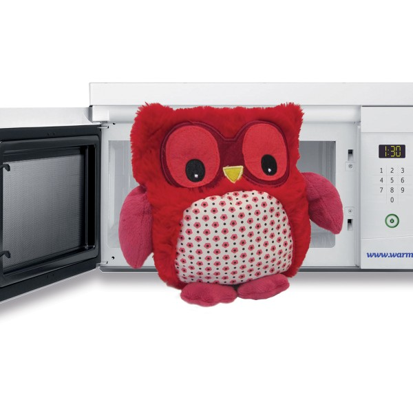 hooty rosso warmies peluche riscaldabile