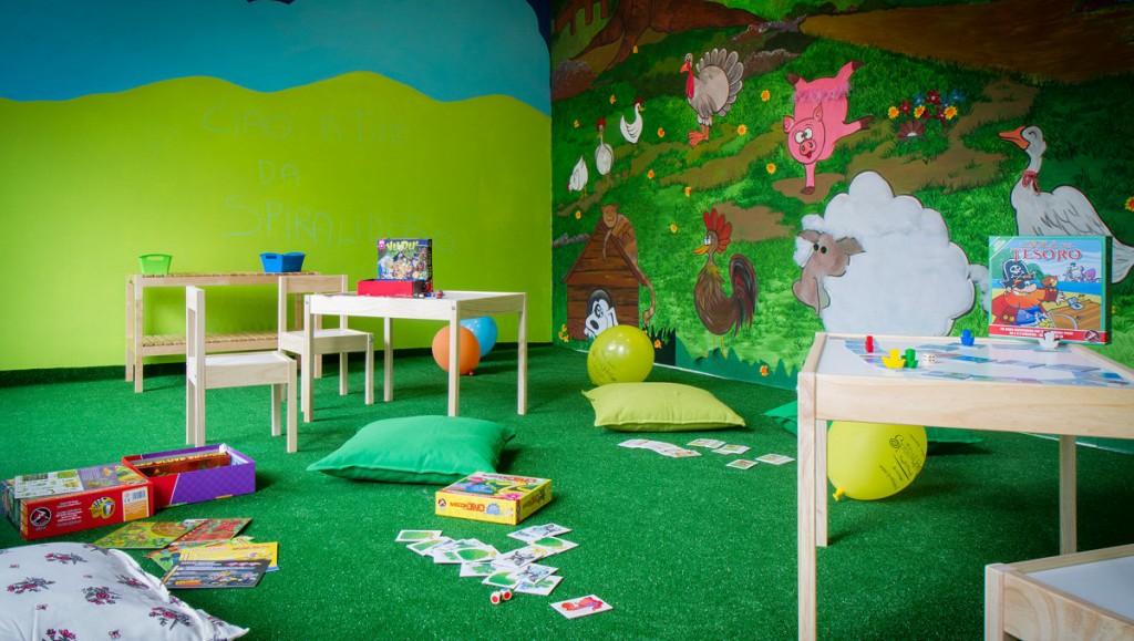sala giochi spiralidoso provare giochi da tavolo giocare bambini
