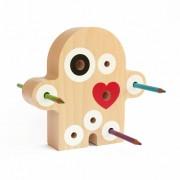 idea regalo per ufficio porta penne in legno