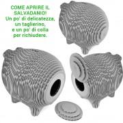 salvadanaio ecologico in cartone ondulato fatto a mano in italia